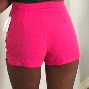 Pink Casual Shorts